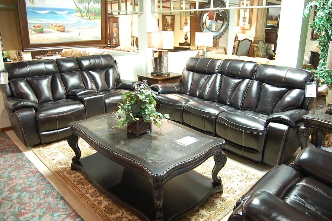 Leather Living Room – Castle Fine Furniture